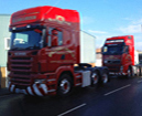 2 red lorries