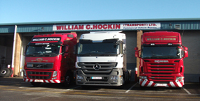 front of lorries